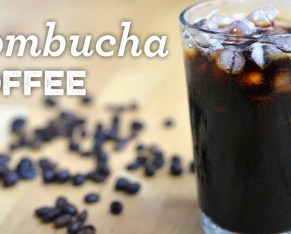 Kombucha coffee using flavour infused coffee
